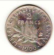 RARE 2 FRANCS TYPE SEMEUSE 1900 TTB CÔTE 200 EUROS