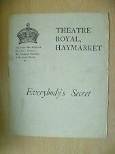 1905 Theatre Royal Programme-Cyril Maude in EVERYBODY'S SECRET & A CASE OF ARSON