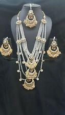 Elegant Necklace Set Earrings tikka  Wedding Indian Bollywood Jewellery Gold