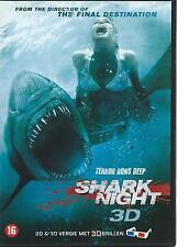 DVD - SHARK NIGHT 3-D  ( + 3-D glasses) ENGL    / NL