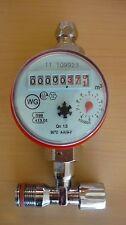 Warm Wasserzähler Zähler für Montage auf Eckventil Nr.63603 geprüft geeicht 2018
