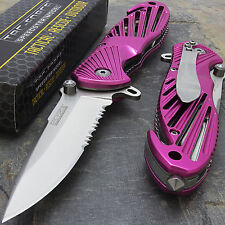 "8"" TAC FORCE PINK SPRING ASSISTED TACTICAL FOLDING KNIFE Blade Pocket Open"