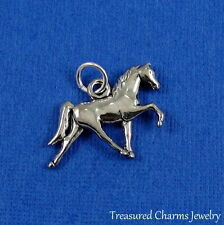 Silver HORSE Pony Trotting Equine Equestrian CHARM PENDANT