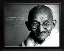 "Mahatma Gandhi Photo Picture, Poster or Framed Quote ""An Eye for an Eye"""