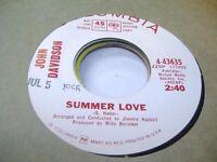 Rock Promo 45 JOHN DAVIDSON Summer Love on Columbia (promo) 1