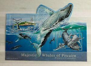 PITCAIRN ISLANDS - 2006 HUMPBACK WHALES MIN SHEET NHM SG MS723