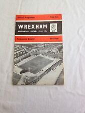 1968 WREXHAM v LINCOLN CITY FOOTBALL PROGRAMME