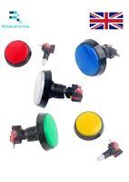 12VDC 60mm Big Rotondo Interruttore Pulsante Luce LED Rosso,Bianco,Verde,Giallo