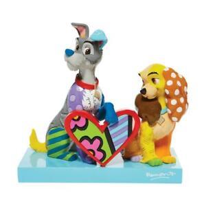 Romero Britto Disney LADY & THE TRAMP Limited Edition Figurine Sculpture New!