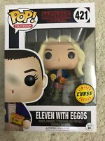 Funko Pop Eleven with Eggos #421 CHASE Stranger Things Vinyl Figure MINT BOX