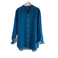 Tommy Bahama Relax Linen Shirt Blue XL