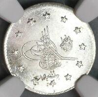 1886 NGC MS 64+ Ottoman Turkey 1 Kurush 1293/11 Silver Coin (19092103C)