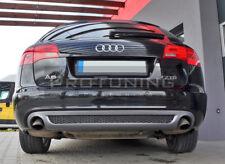 For Audi A6 C6 4F 04-08 Avant Rear Bumper twin exhaust Spoiler Diffuser skirt S