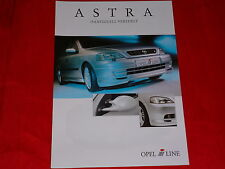 Opel Irmscher ASTRA G individuellement affine prospectus de 2001