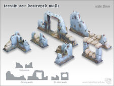 Terrain Set - Destroyed Walls - *Tabletop Art*