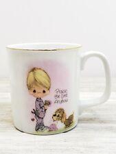 "Vintage Precious Moments ""Praise the Lord Anyhow"" Coffee Mug Tea Cup 1984 Enesco"