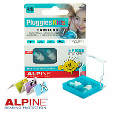 ALPINE pluggies per bambini Earplugs per il Nuoto & Sport Acquatici-gratis UK P & P