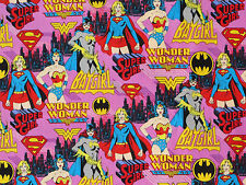 BATGIRL FABRIC  WONDER WOMAN SUPER GIRL POWER FEMALE SUPERHERO CAMELOT YARDAGE