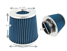 """2.5 Inches 63 mm Cold Air Intake Cone Filter 2.5"""" NEW BLUE BMW"""