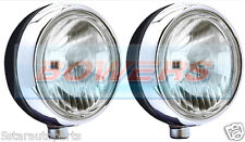 "NEW PAIR OF STAINLESS STEEL CHROME 7"" CIBIE OSCAR H3 SPOT/DRIVING LAMPS/LIGHTS"