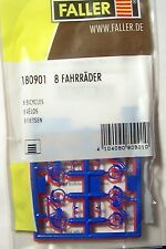 NEW HO Faller EIGHT (8) BICYCLE BICYCLES BIKES KIT Model Detail 180901