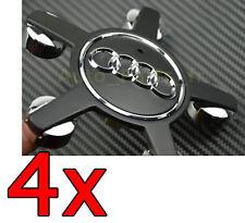 4 Cache Jante moyeux Centre de roue Audi  A4 A5 A6 A8 Q5 RS SLINE Tuning Noir