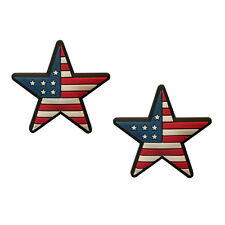 American Flag Star Tennis Vibration Dampener 2-Pack by Racket Expressions