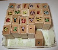 Outline Alphabet Set Rubber Stamps ACFGIJKMNOPQRTUVWXYZ ?., Hero Arts 23 Pieces