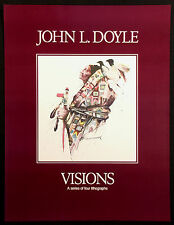 """John Doyle """"Visions"""" Unsigned Fine Art Gallery Poster Native Amer themed, OBO!"""