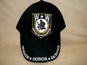 Wounded Warrior, 100% Cotton, Colorful, Embroidered Ball Cap