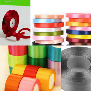 """Satin Ribbon Single Sided 12mm (1/2"""") wide 2 5 or 10m lengths"""