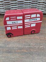 Vintage Salt & Pepper Ceramic Novelty Set  Salt & Pepper Pots. London Bus.