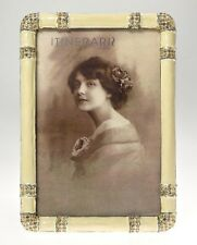 MASCAGNI Cornice Portafoto 10x15 cm da Tavolo in Peltro Smaltato e Strass