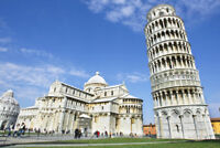 Pisa Cathedral with the Leaning Tower of Pisa Photo Art Print Poster 18x12