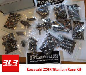 Kawasaki ZX6R  2009-18 Full Race Titanium bolt kit