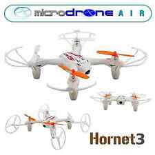 "MicroDRONE Hornet 3-in-1 Quadcopter w/ Cam Remote Control 7"" Fly & Landrover"