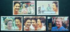 SAMOA 1992: 40th ANNIVERSARY ASCENSION QE II: SET OF 4 MNH STAMPS