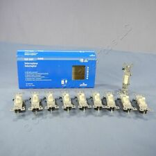 10 Grade Leviton Residential Almond 1-Pole Toggle Light Switches 15A 1451-2AM
