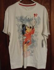 NEW Walt Disney Fantasia Men's S Short Sleeve T Shirt Sorcerer Mickey Mouse NWT