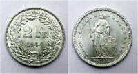 1944 Switzerland 2 Two Francs - aUNC - 83.5% Silver - Lot 104