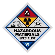 Hazardous Materials Specialist Haz Mat Firefighter Reflective Decal Sticker