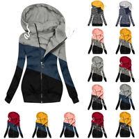 Plus Size Womens Zip Up Hoodies Coat Jackets Ladies Hooded Casual Sweatshirt Top
