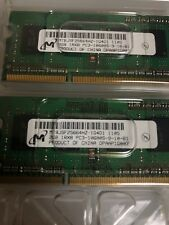 Micron 4GB 2x2GB 1Rx8 PC3-10600S SO-Dimm Laptop Memory RAM