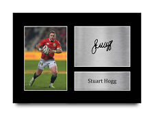 More details for stuart hogg british lions gift signed autograph a4 photo print for rugby fans