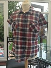 Blouse Cotton Blend Check Collared Tops & Shirts for Women