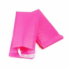 """50 Pink Poly Bubble Mailers 4""""x8"""" Self Seal Padded Shipping Envelopes Bags"""