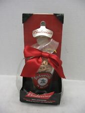 Budweiser Wall Mount Bottle Opener & Pint Glass Gift Pack NOS