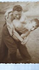 VINTAGE PHOTO Strong Men Muscular Shirtless Guys Gay Interest