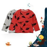 Children Baby Boys Catoon Dinosaur T-shirt Tops Shirts Tee Casual Sweater