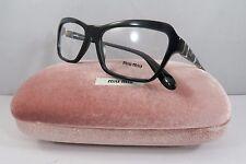 Miu Miu VMU 02N 1AB-1O1 Black/White Spotted New uthentic Eyeglasses 52mm w/ Case